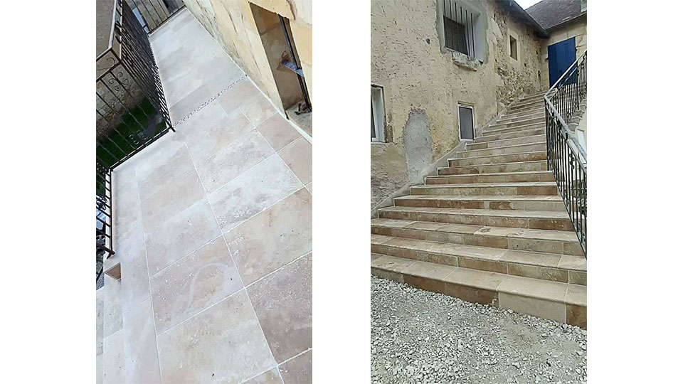 Rénovation d'un escalier extérieur et d'une terrasse