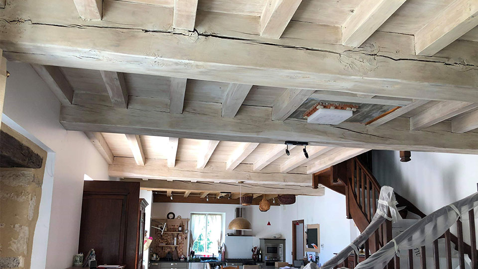 Rénovation peinture boiseries murs et plafond